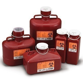 Non-Stackable Sharps Containers, Red