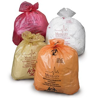 Autoclavable Biohazardous Waste Bags w/ Indicator, Max Temp 285˚F, Flat Packed
